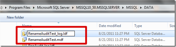 BISQL # 45 : How to Rename .MDF File and .LDF file ? (i.e - .mdf , .ldf) (4/5)