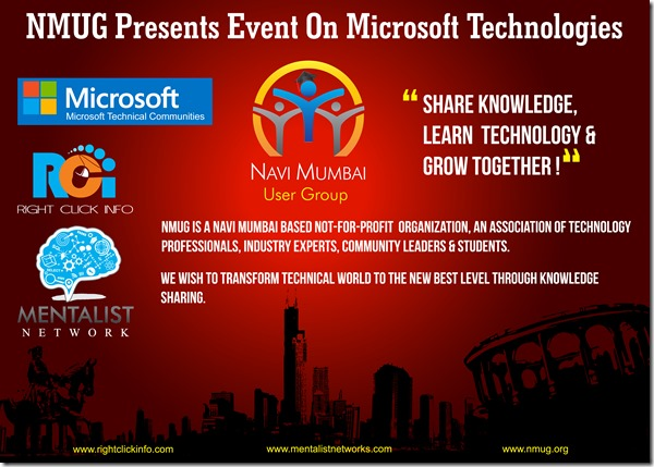 I am presenting @ Navi Mumbai User Group Event on Microsoft Technologies in Surya InfoEdge on SQL Server 2014 & MS BI (2/2)