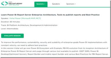 My session in SQL Saturday #859 Tampa – Learn Power BI